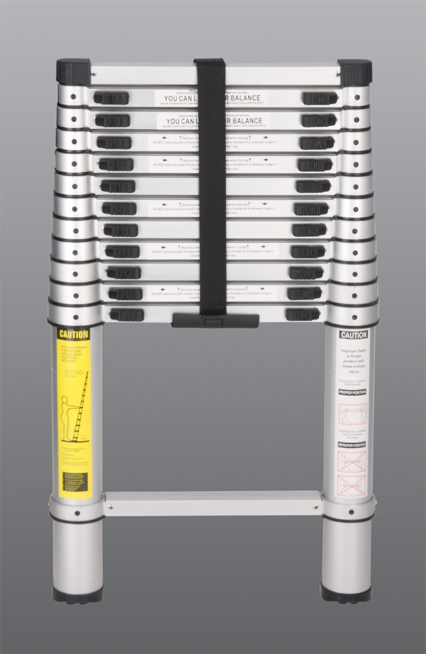 Aluminum Telescopic Ladder : Sterling single sided collapsible aluminum ladder