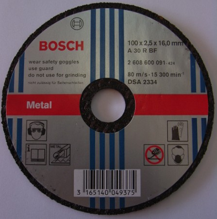 Bosch Metal Cutting Disc 100x2 5x16mm 25 Pieces Bosch