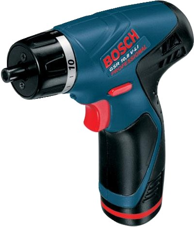 bosch cordless screwdriver gsr 10 8 v li torch light gfl. Black Bedroom Furniture Sets. Home Design Ideas